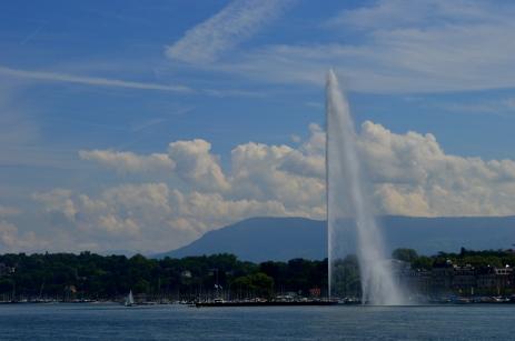 The impressive jet d'eau